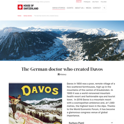 (en) The German doctor who created Davos