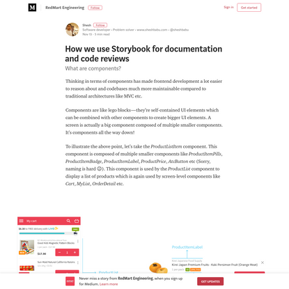 How we use Storybook for documentation and code reviews