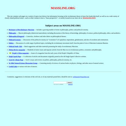 Massline.org Home Page