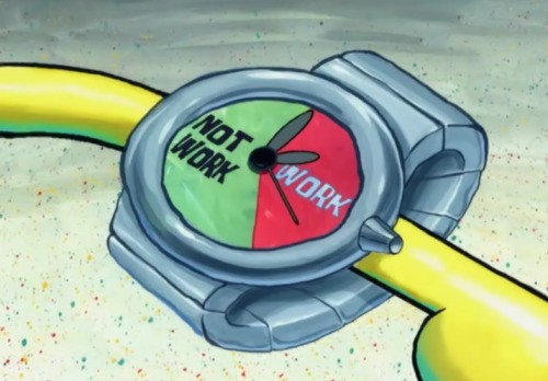 Spongebob Sqarepants' Fordist watch