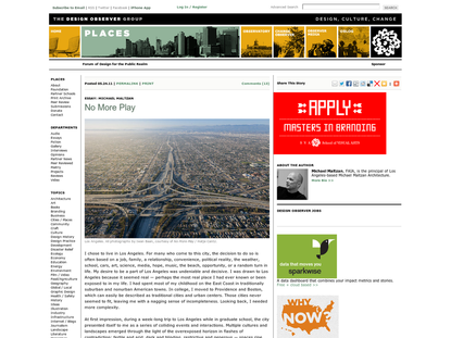 No More Play: Los Angeles on the verge of a new era: Places: Design Observer