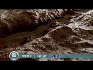 Cinema4D Displacements Techniques - Alien Planet Design