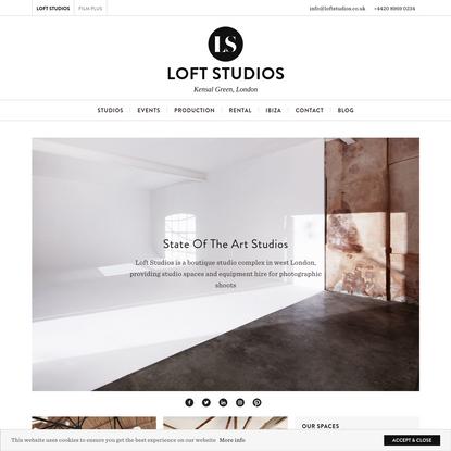 Loft Studios | Photographic Studios and Rental Equipment in London and Ibiza
