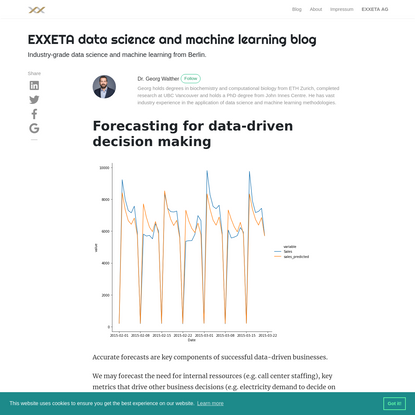 Forecasting for data-driven decision making