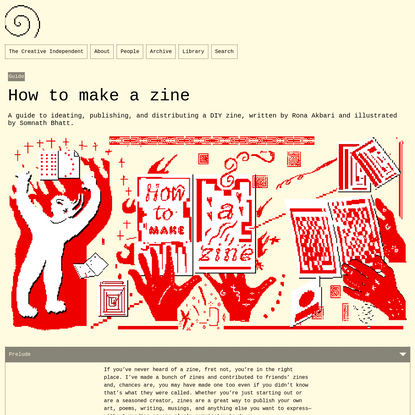 How to make a zine