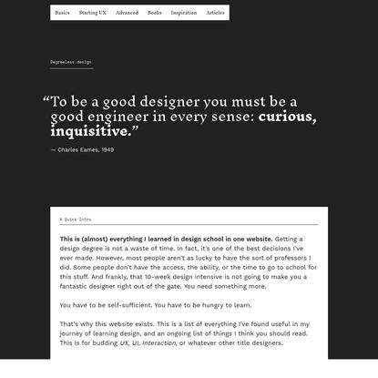 Degreeless.design - Everything I Learned in Design School