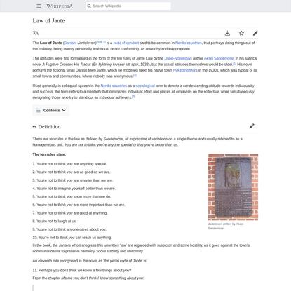 Law of Jante - Wikipedia