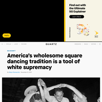 America's wholesome square dancing tradition is a tool of white supremacy