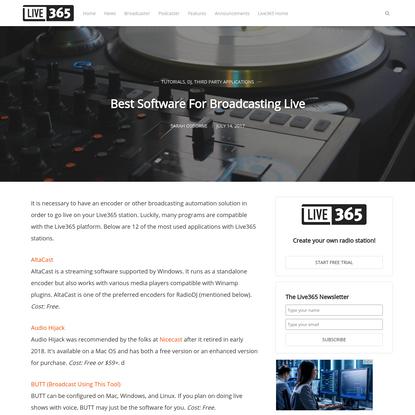 Best Software For Broadcasting Live