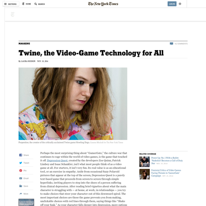Twine, the Video-Game Technology for All