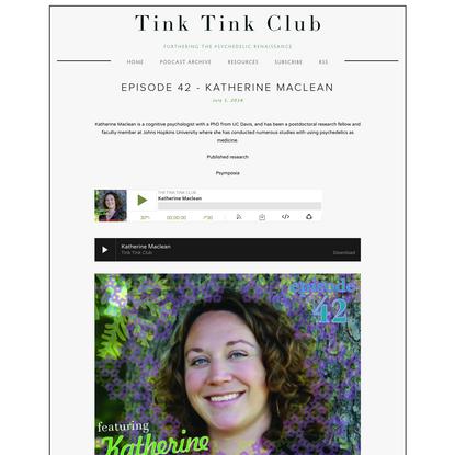 Episode 42 - Katherine Maclean