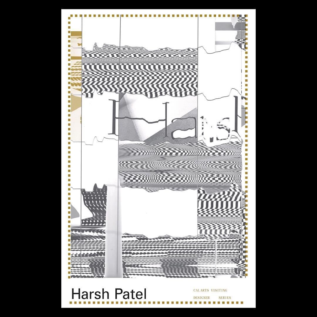 Visiting Graphic Designer, Harsh Patel, this Thursday ... Designed by MFA1 Becca Lofchie @becca._.l . . . . . . . . . . #pos...