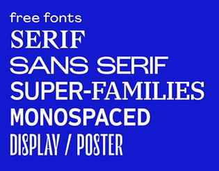 The Best Contemporary Free Fonts 2018