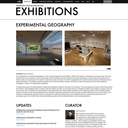 Experimental Geography - Exhibitions - Independent Curators International