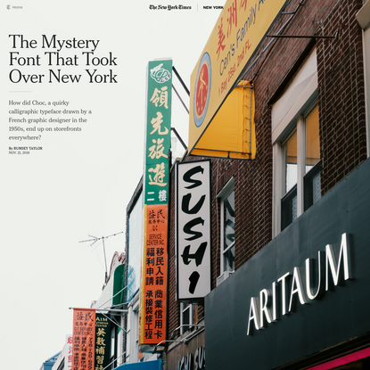 The Mystery Font That Took Over New York - The New York Times