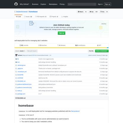 beakerbrowser/homebase