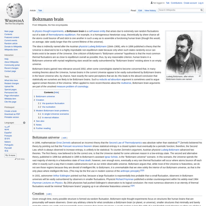 Boltzmann brain - Wikipedia