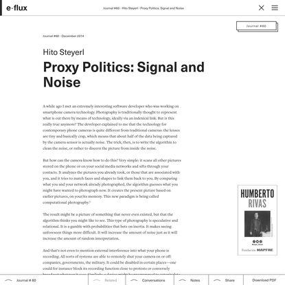 Proxy Politics: Signal and Noise