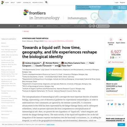 Towards a Liquid Self: How Time, Geography, and Life Experiences Reshape the Biological Identity