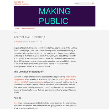 Torrent-like Publishing
