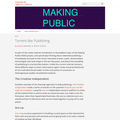 Torrent-like Publishing