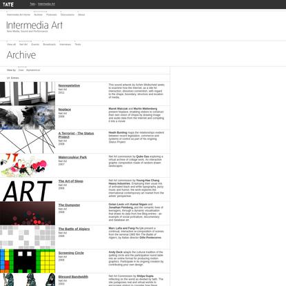 Intermedia Art Archive: Net Art by Date | Tate