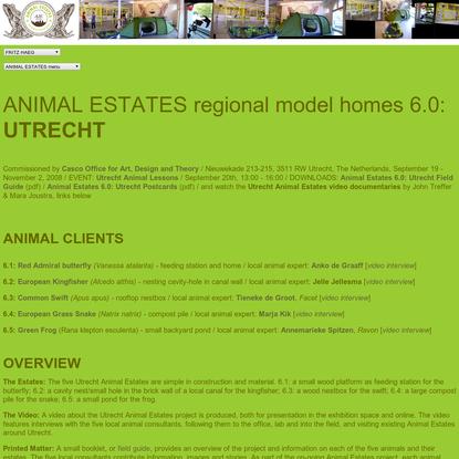 fritz haeg / animal estates / 6.0 utrecht, the netherlands / main