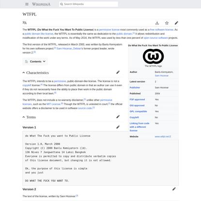 WTFPL - Wikipedia