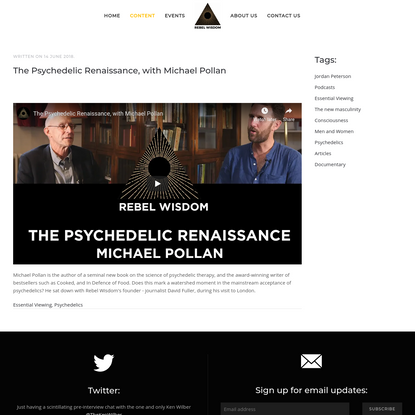 The Psychedelic Renaissance, with Michael Pollan