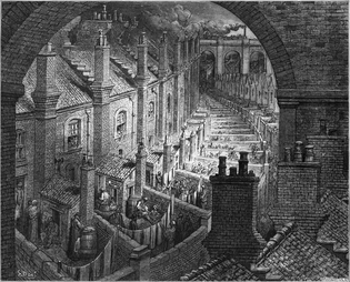Gustave Doré - Over London by Rail