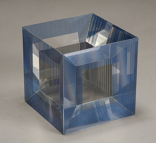 'Cube with Ambiguous Space', Jesus Rafael Soto