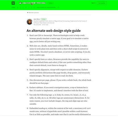 An alternate web design style guide - Hacker Noon