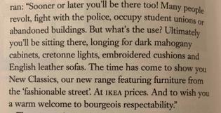 Ikea ad copy, 1979(?)