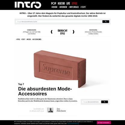Top 7: Die absurdesten Mode-Accessoires