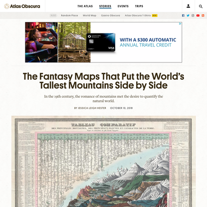 The Fantasy Maps That Put the World's Tallest Mountains Side by Side