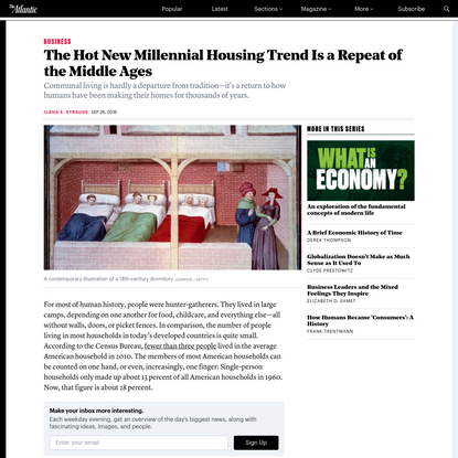 The Hot New Millennial Housing Trend Is a Repeat of the Middle Ages