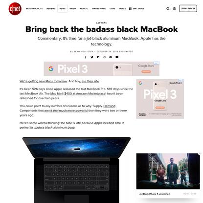 Bring back the badass black MacBook