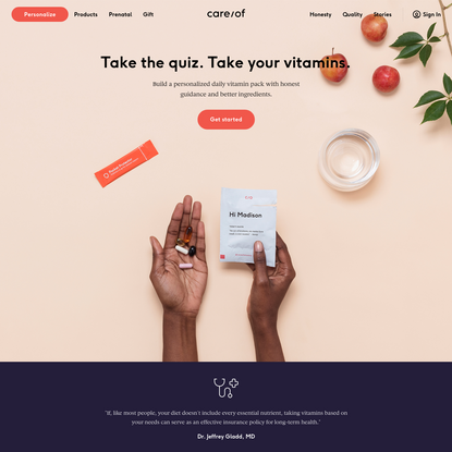 Care/of: Personalized Daily Vitamin Packs