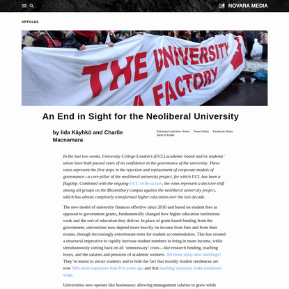 An End in Sight for the Neoliberal University   Novara Media