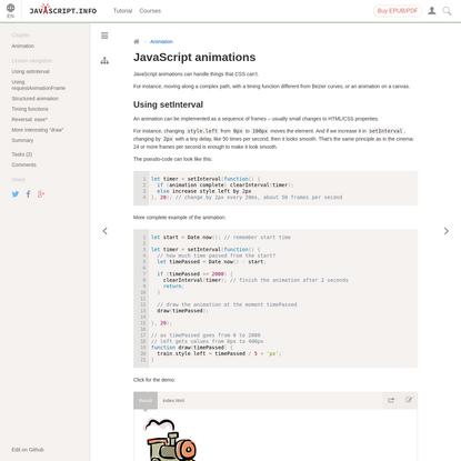 JavaScript animations