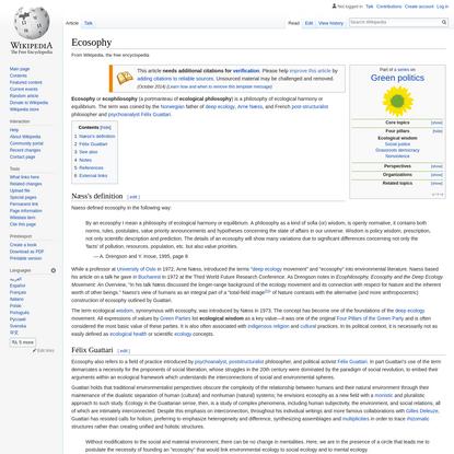 Ecosophy - Wikipedia