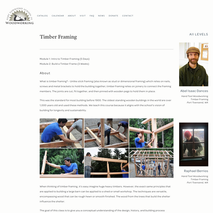 Timber Framing 2018 - Port Townsend School of Woodworking