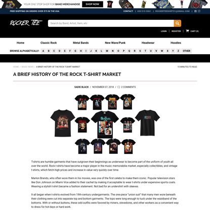 A Brief History of the Rock T-Shirt Market