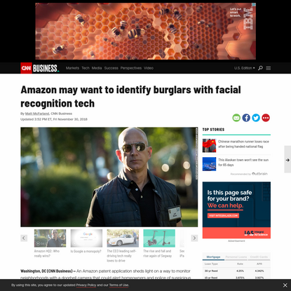 Amazon may want to identify burglars with facial recognition tech
