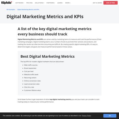 Digital Marketing Metrics and KPIs