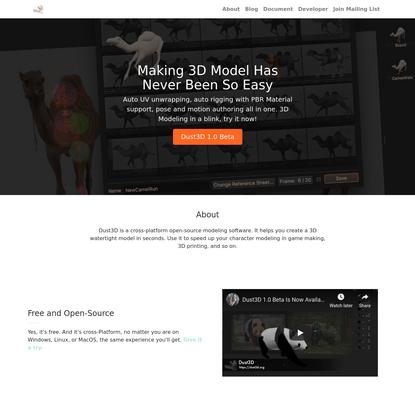 Dust3D   Free 3D Modeling Software