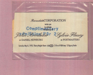 Bernadette Corporation Party Invite at Club USA, New York, May 1993