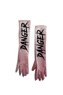 Danger Satin Gloves