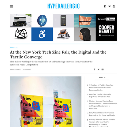 At the New York Tech Zine Fair, the Digital and the Tactile Converge