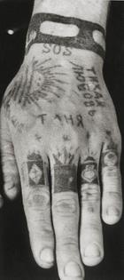 Russian Hand Tattoo